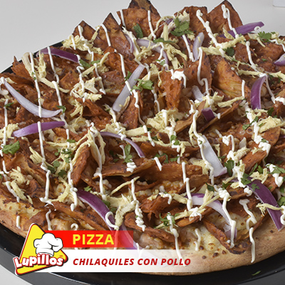 Pizza Clásica Chilaquiles con Pollo